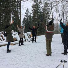Qi Gong in de sneeuw
